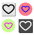 heart flat icon vector image