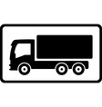 icon with black islolated truck vector image