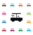 isolated golfing icon golf-car element can vector image vector image