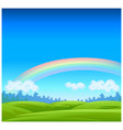 landscape with coniferous forest on horizon vector image