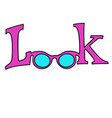 look glasses isolated on white background vector image vector image