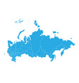 map of russia high detailed map - russia vector image