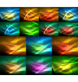 mega collection of neon glowing shiny light vector image