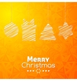 Merry Christmas gifts card abstract orange vector image vector image