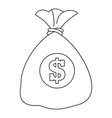 money icon outline style vector image vector image