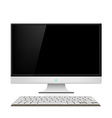 Monitor and keyboard vector image