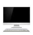 Monitor and keyboard vector image vector image