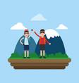 mountaineering sport cartoon vector image