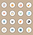 music icons flat style set with samba silent vector image vector image