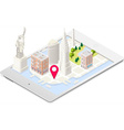 NYC Map 01 Building Isometric vector image
