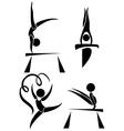 Olympics symbols for gymnastics vector image vector image