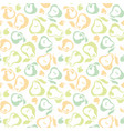 pale color pear fruit seamless pattern for fabric vector image