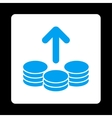 Payout Icon from Commerce Buttons OverColor Set vector image vector image