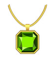 peridot jewelry icon realistic style vector image vector image