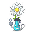 pirate vase with bouquet of beautiful cartoon vector image vector image