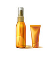 realistic sunscreen sunblock tube mockup ad vector image