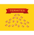 Red colony of termites flat style vector image vector image