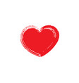 red heart icon on white vector image vector image