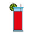 refreshing liquor cocktail vector image vector image