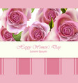 roses beautiful card or invitation vector image vector image