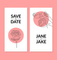 save date wedding invitation card template vector image vector image