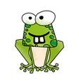 Scribble funny toad cartoon
