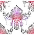 seamless pattern with contour a moose head vector image vector image