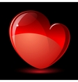 Shiny red heart valentines day vector | Price: 1 Credit (USD $1)