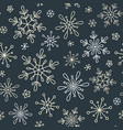 snowflakes seamless background vector image vector image
