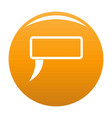 speech bubble icon orange vector image vector image