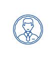staff profile line icon concept staff profile vector image vector image