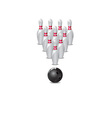 ten pin bowling icon vector image vector image