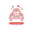 Wedding car card design vector image