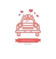 Wedding car card design vector image vector image