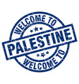 welcome to palestine blue stamp vector image vector image