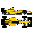 yellow racing car vector image