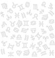 zodiac background vector image