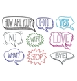 Vintage hand drawn speech bubbles with dialog vector image