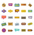 set sign and signboards vintage billboard vector image