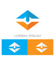 triangle arrow business progress logo vector image