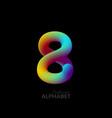 3d iridescent gradient number 8 vector image
