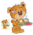a loving brown teddy bear vector image