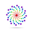 abstract circle dots 3d logo iconxa vector image vector image