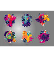 abstract spot collection with liquid shapes vector image vector image