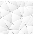 Abstract white paper triangle background vector image vector image
