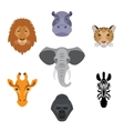 African flat animals vector image vector image