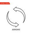 arrows icon thin line vector image vector image