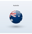Australia round flag vector image vector image