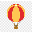 balloon isometric icon vector image vector image