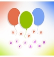 Balloons with happy birthday on background vector image vector image
